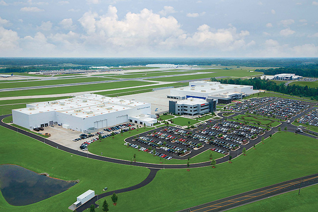 The Honda Aircraft Campus In Greensboro North Carolina Contains Company Headquarters Factory