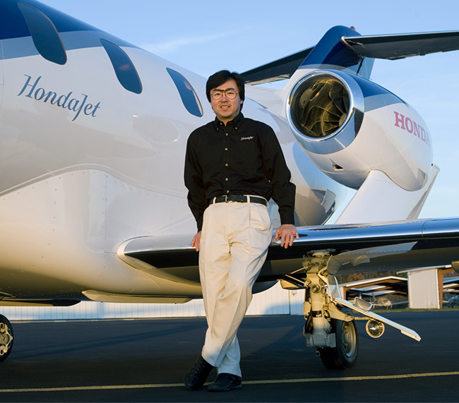 Chief designer of the HondaJet, Michimasa Fujino was the first to successfully incorporate over-the-wing-mounted engines on a business aircraft.