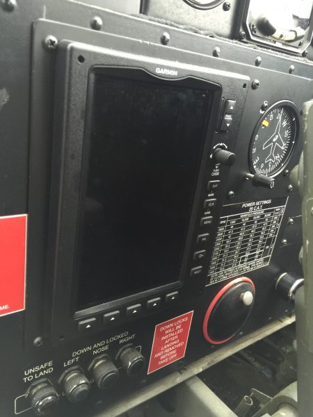Garmin display in Boeing B-29.
