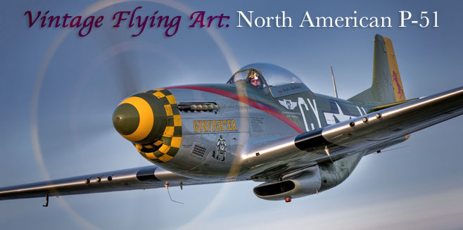 Vintage Flying Art: North American P-51 Mustang - Plane & Pilot Magazine
