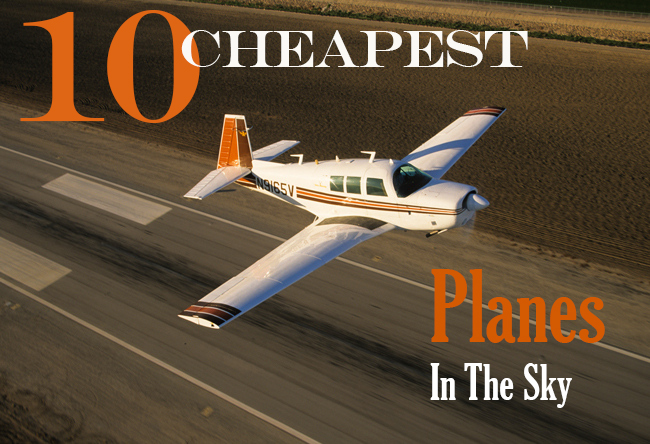 10 cheapest planes