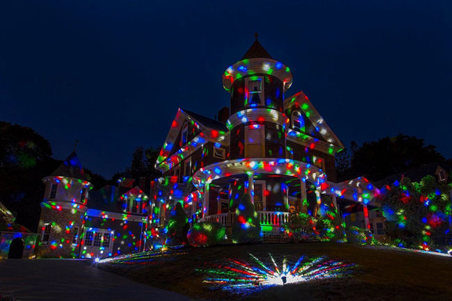 Holiday laser light display