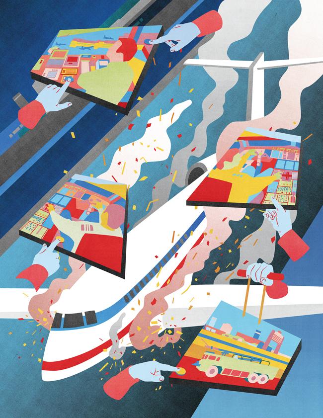 Landing gear-up illustration