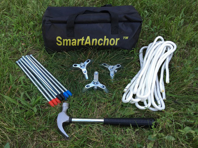 SmartAnchor tie down kit