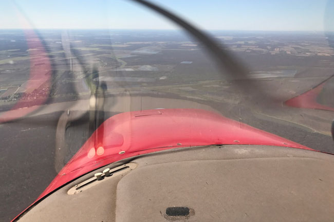 View from Cessna 182 Skylane