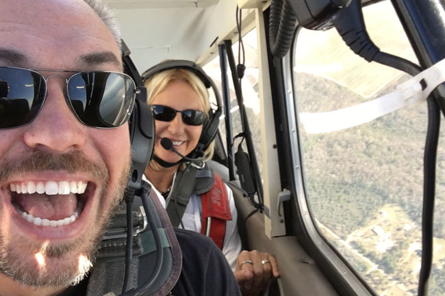 flight training with Patty