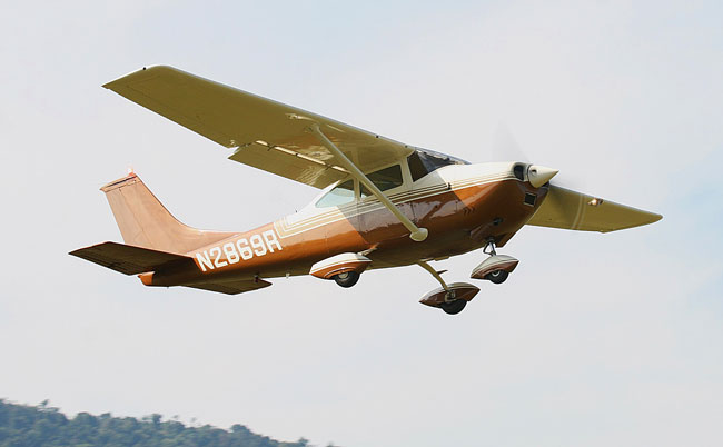 Orange Cessna 182 Skylane