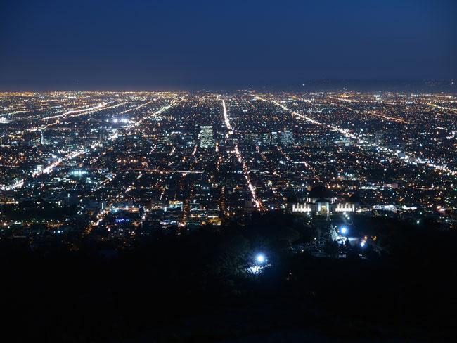 Asleep over L.A. night