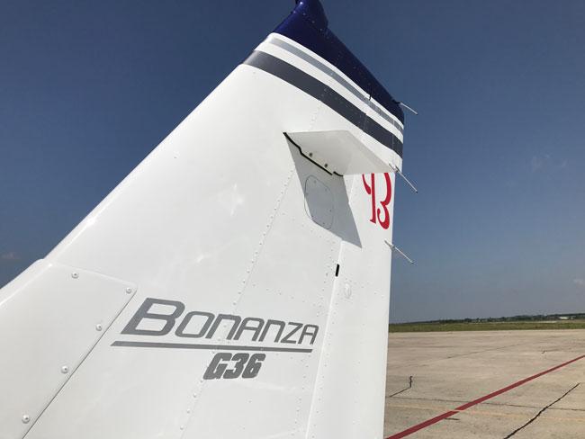 Beechcraft Bonanza G36 tail