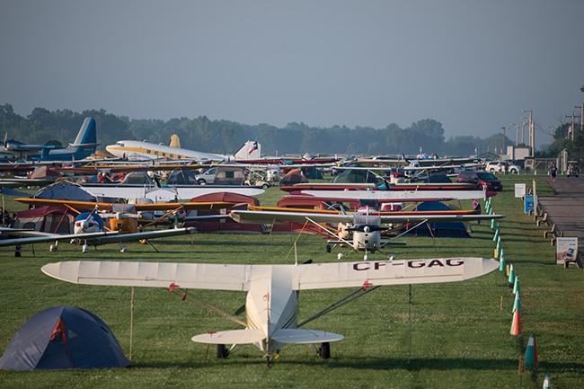 Vintage aircraft parking