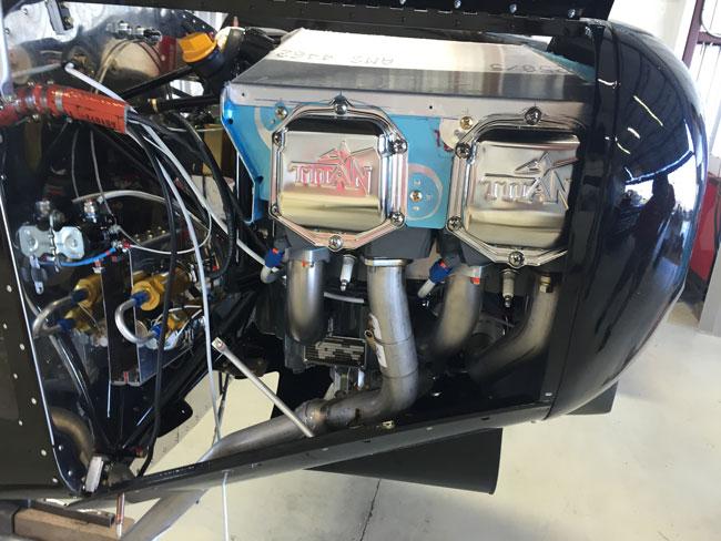 Outback Shock Titan engine detail