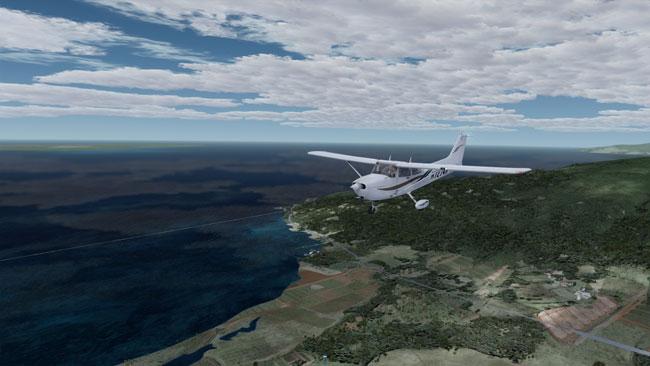 Redbird GIFT plane in flight