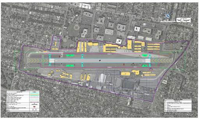 Santa Monica Airport (KSMO) runway shortening plan