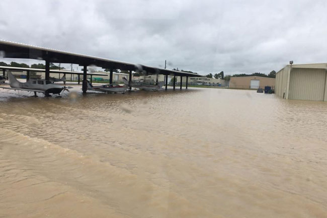 West Houston Airport flooded by Harvey
