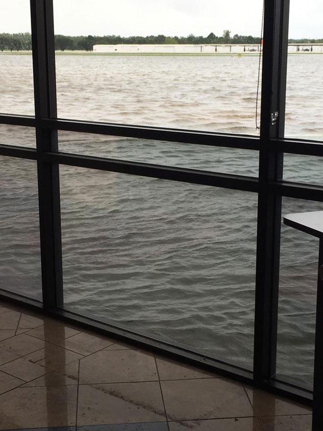West Houston Airport terminal flooding