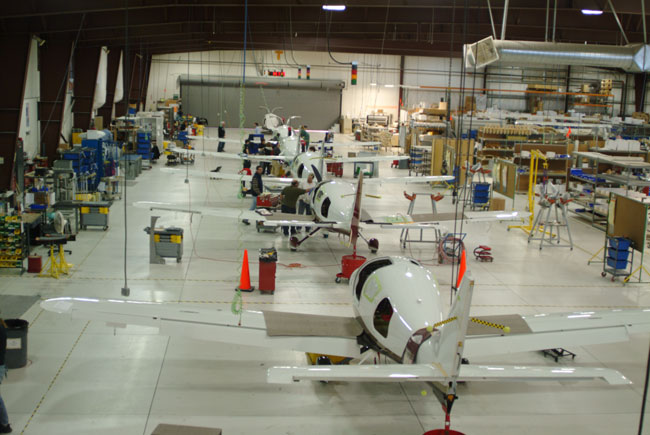 Aircraft manufacturing facility