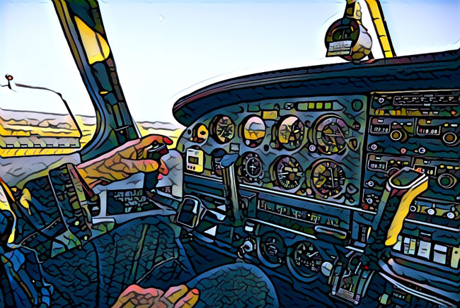 difficulty learning to fly - cockpit