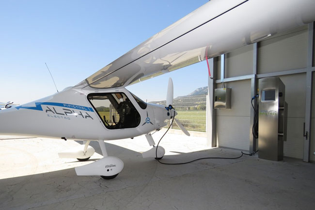 electric aircraft charging station