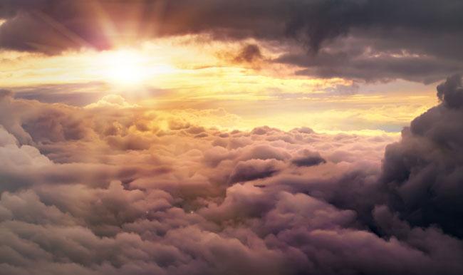 Sun and clouds - pilot depression