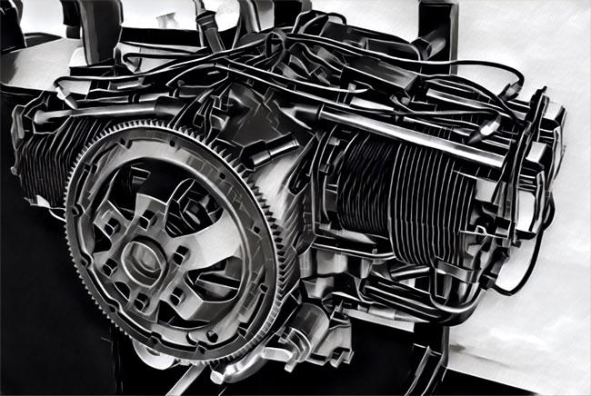 Aircraft piston engines
