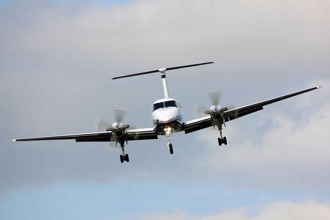 King Air landing flare