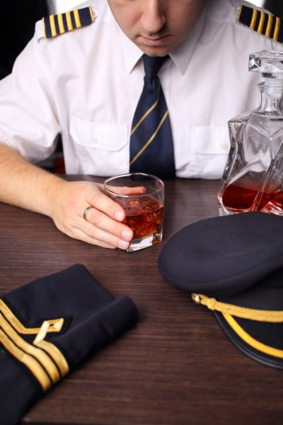 Pilot who was under the influence of alcohol