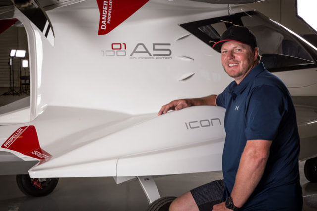 Roy Halladay taking delivery of is Icon A5
