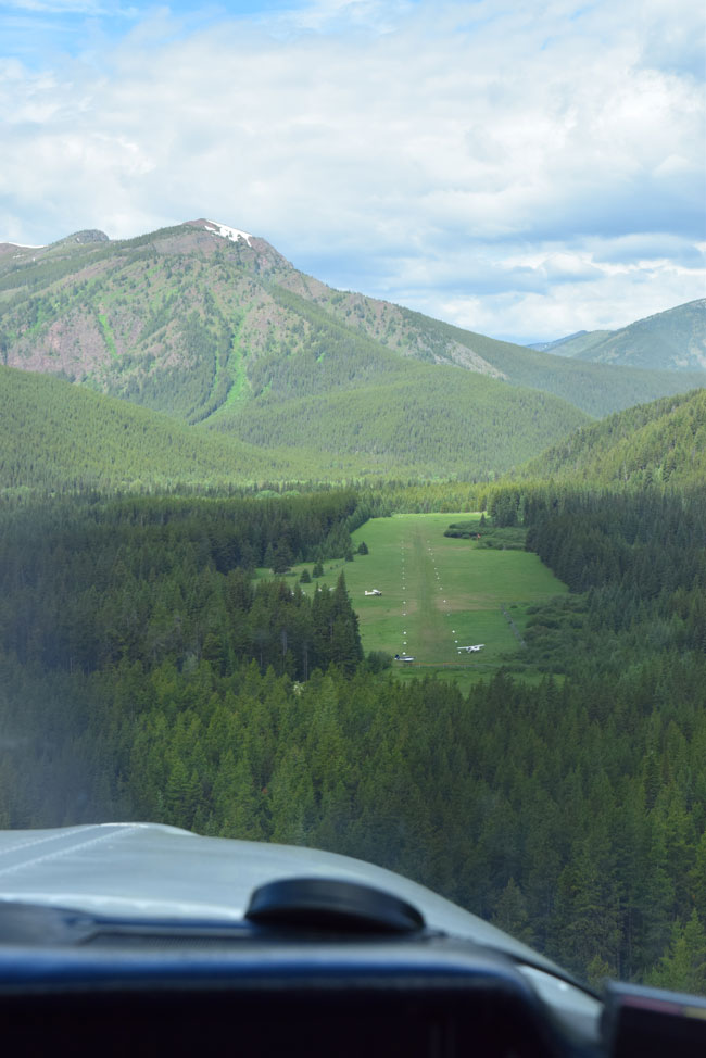 On approach to Shafer Meadows Airstrip (8U2)