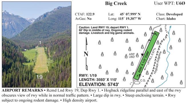 FLY IDAHO Big Creek strip information