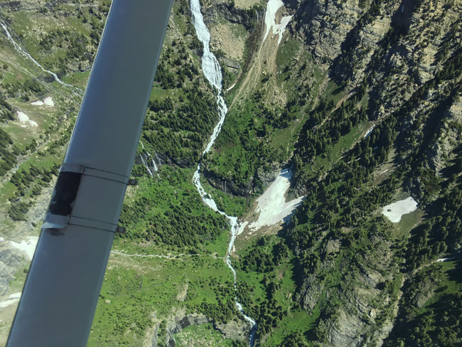 Flying just west of the Continental Divide