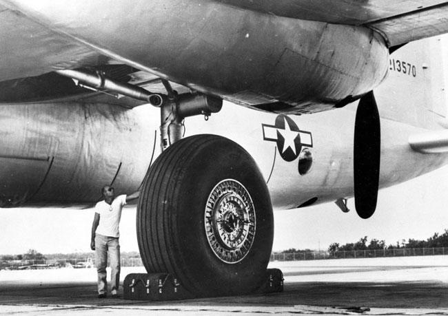 Convair XB-36 airplane tires