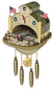 WWII Flying Tiger Cuckoo Clock