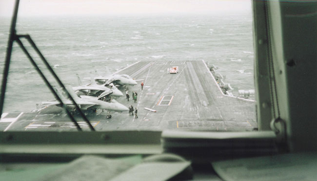 USS Enterprise deck and launch ramps