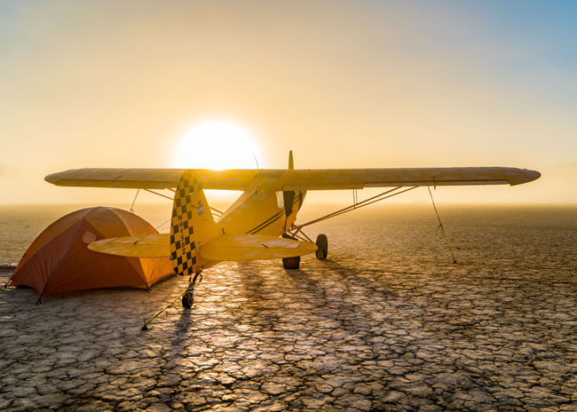 Piper Super Cub at the High Sierra Fly-In