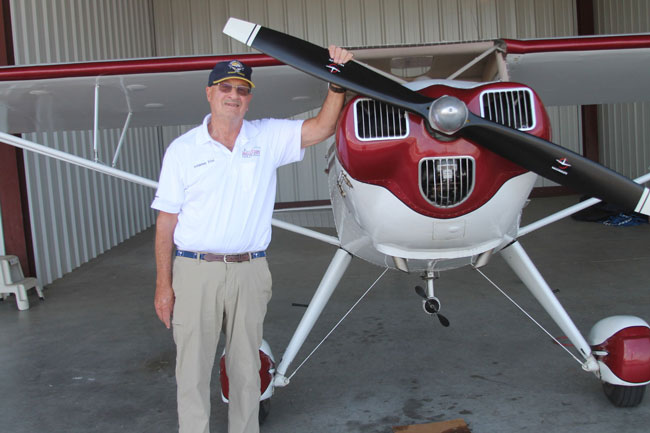 Bo Bowman with his taildragger
