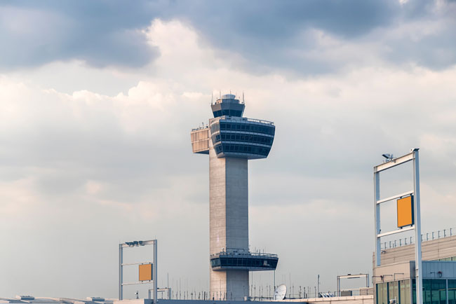 JFK airport is one of the facilities included in the New York TRACON area of control
