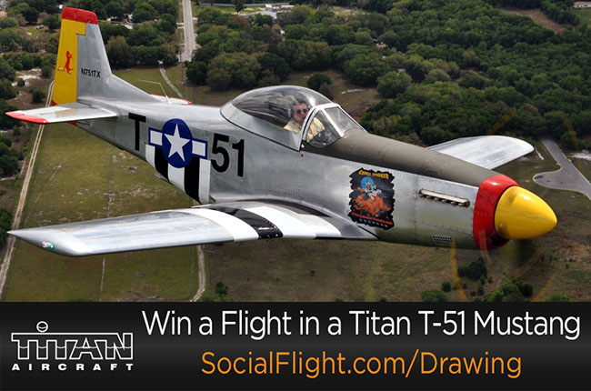 Ride In A Titan T 51d Mustang Courtesy Of Socialflight
