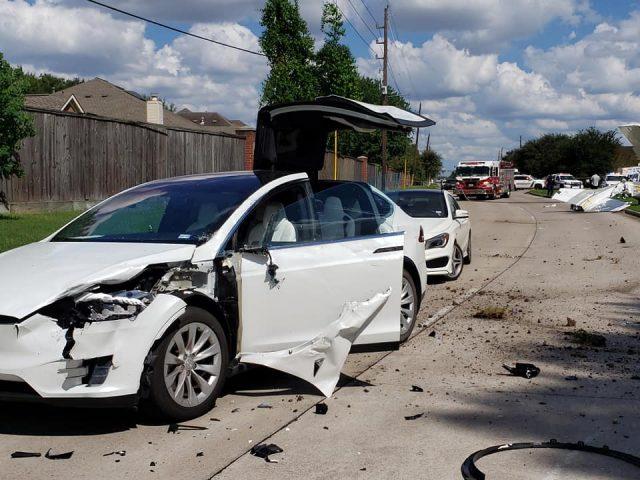 Tesla in plane crash