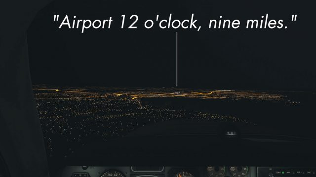 Night alignment with runway