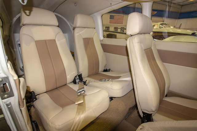 Leather seats of a Dakota
