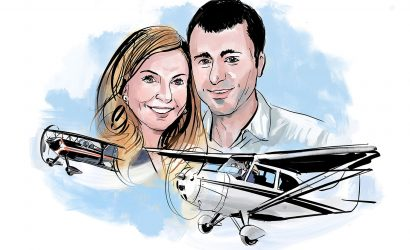 Flying In Formation Led To Romance For Two Pilots