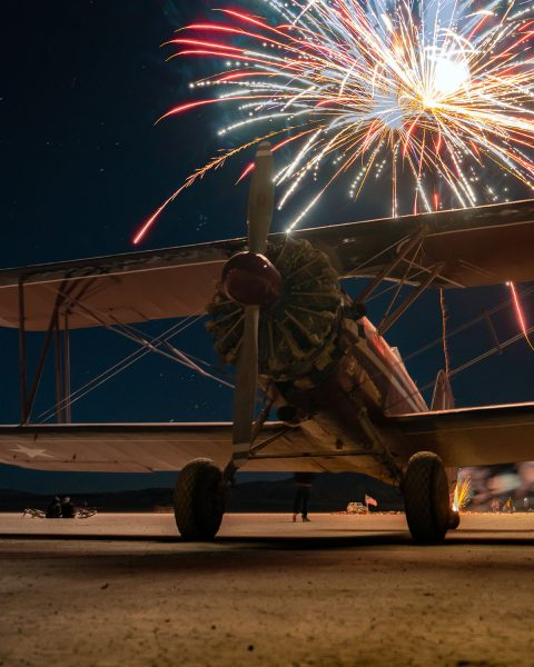 Fireworks show at High Sierra Fly-In