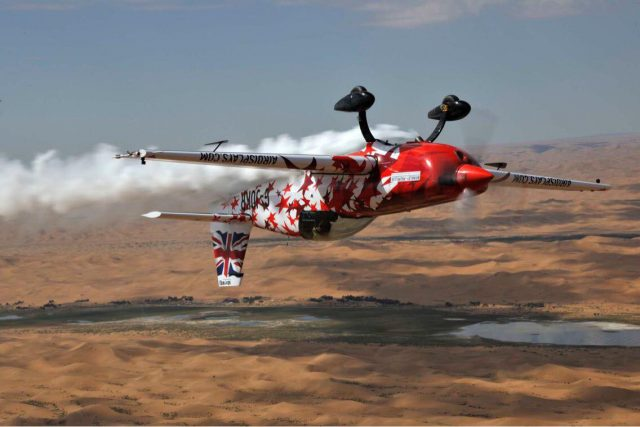 Flying inverted over Inner Mongolia