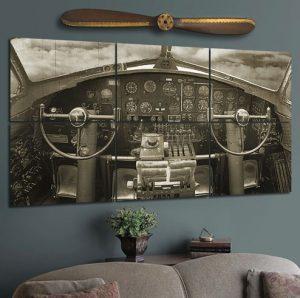 B-17 Cockpit Wall Mural