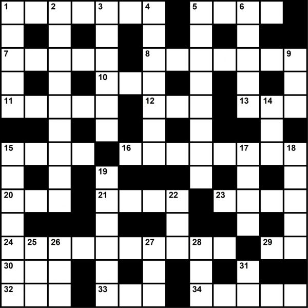 Crossword puzzle May 2019