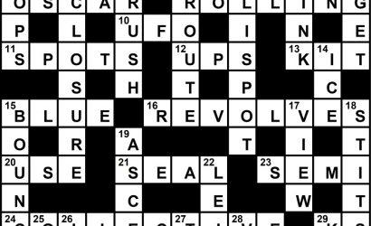 May 2019 Crossword Key