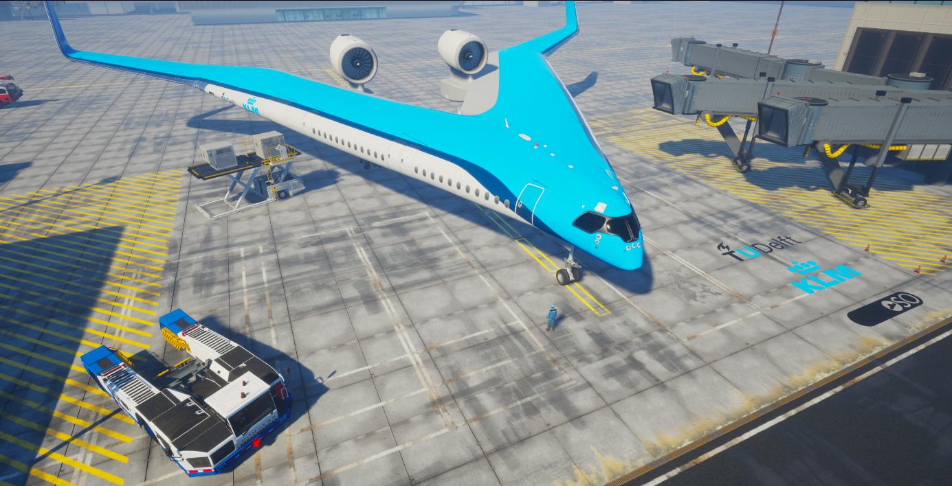 V-shaped plane