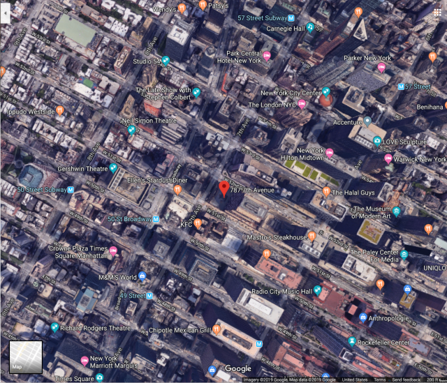 Google Maps Image of New York City