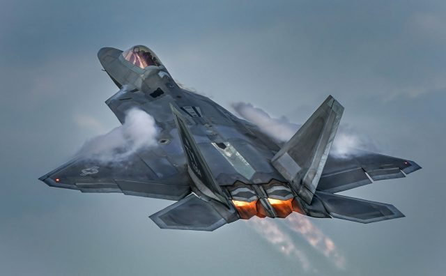USAF F22 at EAA AirVenture Oshkosh 2018