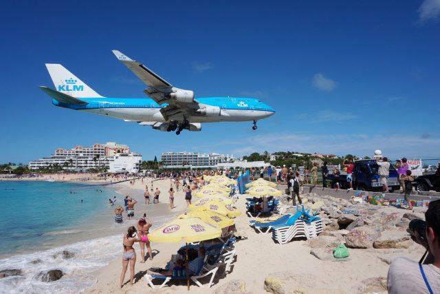 KLM Plane at Saint Martin